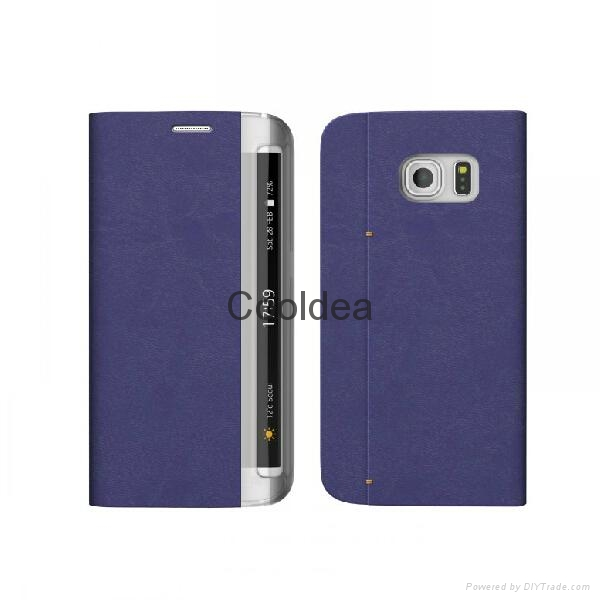 Flip Case With Card Slot For Samsung Galaxy S6 Edge  2