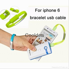 8 Pin Bracelet Hand Wrist Data Sync Charger Charging USB Cable for iPhone 6