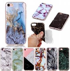 Marble pattern TPU phone case