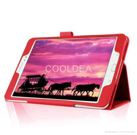 Samsung Galaxy Tab S2 T715 lychee pattern two fold leather case 2