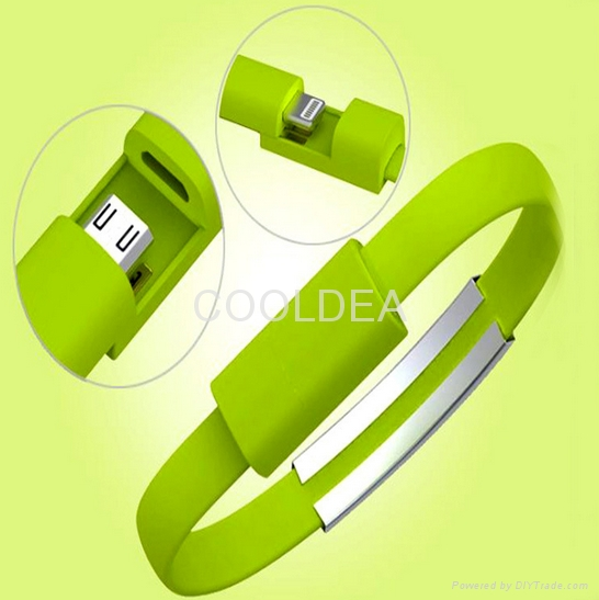 Portable fashionable bracelet data cable iphone Apple phone USB charging cable 2
