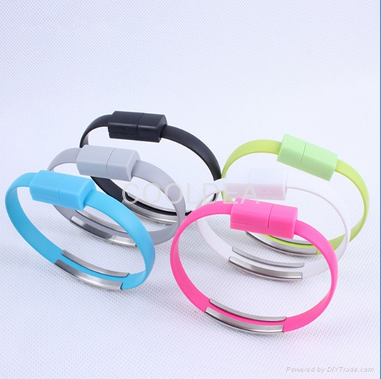 Portable fashionable bracelet data cable iphone Apple phone USB charging cable 1