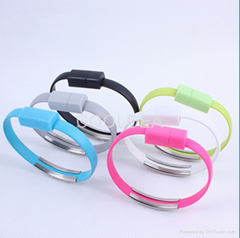 Portable fashionable bracelet data cable iphone Apple phone USB charging cable