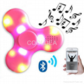 Bluetooth speaker fingertips spinner rechargeable with LED lights 1