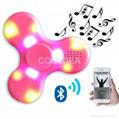 Bluetooth speaker fingertips spinner