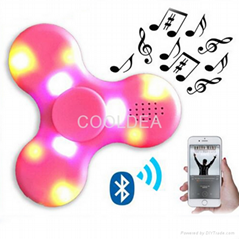 Bluetooth speaker fingertips spinner rechargeable with LED lights