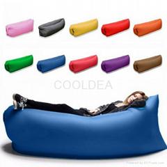 Lazy outdoor portable air inflatable sofa beach sleeping bag
