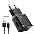 For Samsung S8 UK US EU Version Wall Charger with Data Cable