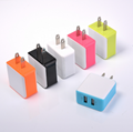 2.4A Dual USB Color Generic Wall Power