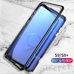 New Magnet With Tempered Glass Phone Case For Samsung S9 S9 Plus