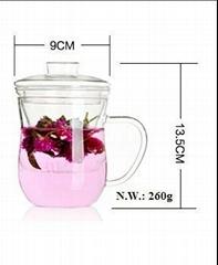 pyrex glass tea cup