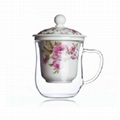 glass cup for flower tea