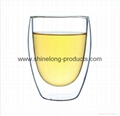 Glass cup with double wall