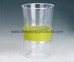 NEW glass cup with double wall