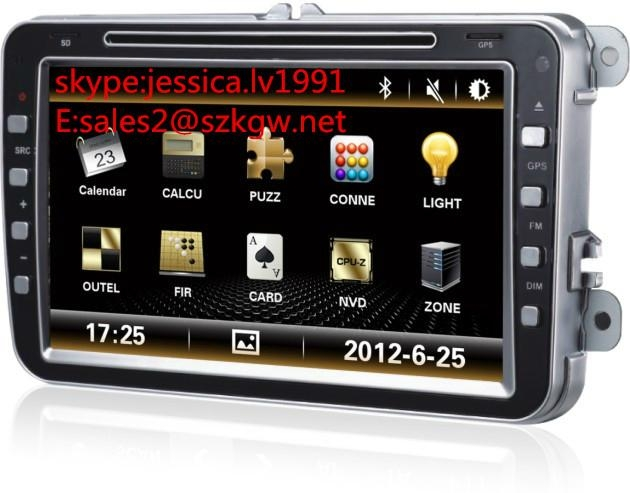 8 inch car DVD player with navigation /BT/RADIO/car parking system  1