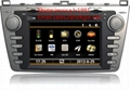 Car audio radio car dvd player for Mazda 6 with GPS navigation BT 3G 1