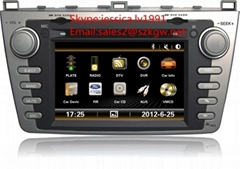 Car audio radio car dvd player for Mazda 6 with GPS navigation BT 3G
