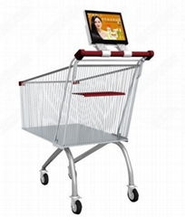 10.1, 12.1 inch Supermarket Trolley LCD digital signage display
