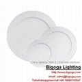 Recessed mounted round led panel lights