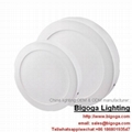 surface ceiling mounted round led panel