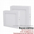 surface ceiling mounted square led panel