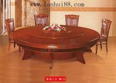 橡木電動餐桌