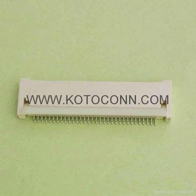 FPC 连接器  0.5间距 2.0高 前插后锁 双面接 2