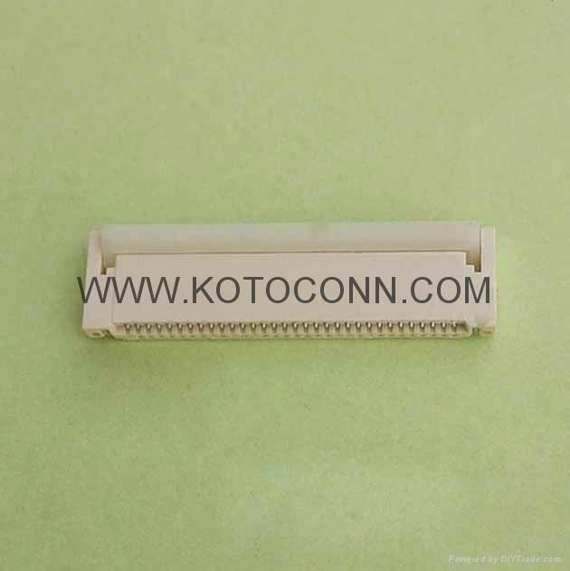 FPC 连接器  0.5间距 2.0高 前插后锁 双面接 3