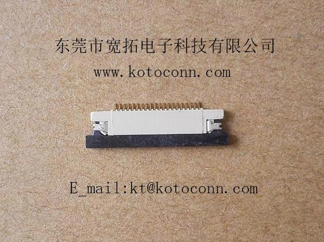 0.5 FPC connector 1.2H SLIDE TYPE BOT Contact 2