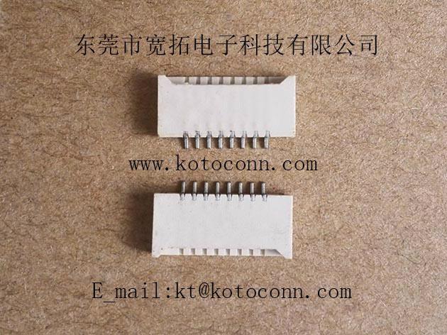 FPC连接器 1.0间距 2.0高 无锁双面接 1