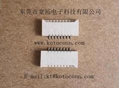 FPC連接器 1.0間距 2.0高 無鎖雙面接
