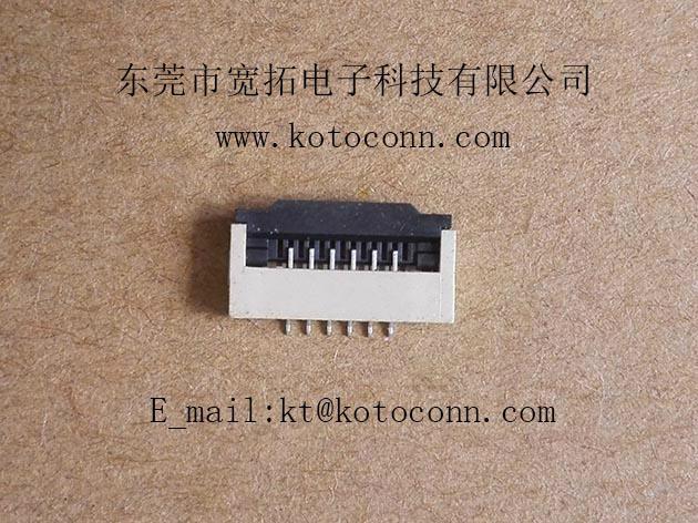 FPC连接器 1.0间距 2.0高 掀盖式下接 4