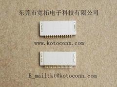 FPC连接器 0.5间距  1.2高   无锁式    双面接触
