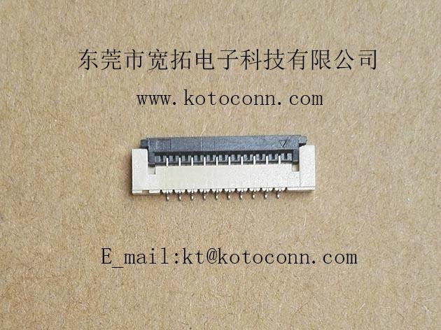 FPC 1.0PH 1.5H FLIP TYPE BOTTOM Contact 2