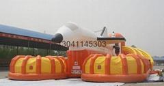 Large inflatable slide castle rock climbing