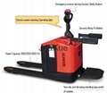 Factory Price 3.0T Electronic Steering Stand-on Full Electric Folding Pallet Tru 1