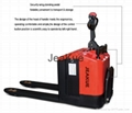 Factory Price 3.0T Electronic Steering Stand-on Full Electric Folding Pallet Tru 3