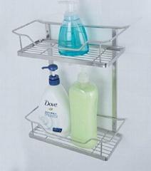 Two layers of bathroom shelf