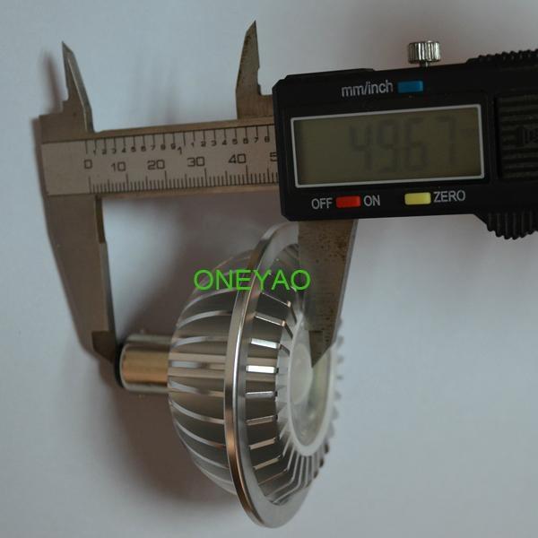 50mm height 7W BA15D 12V dimmable LED AR70 spotlight  with SHARP COB 4
