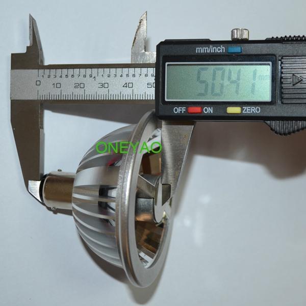 50mm height 7W BA15D 12V dimmable LED AR70 spotlight  with SHARP COB 2