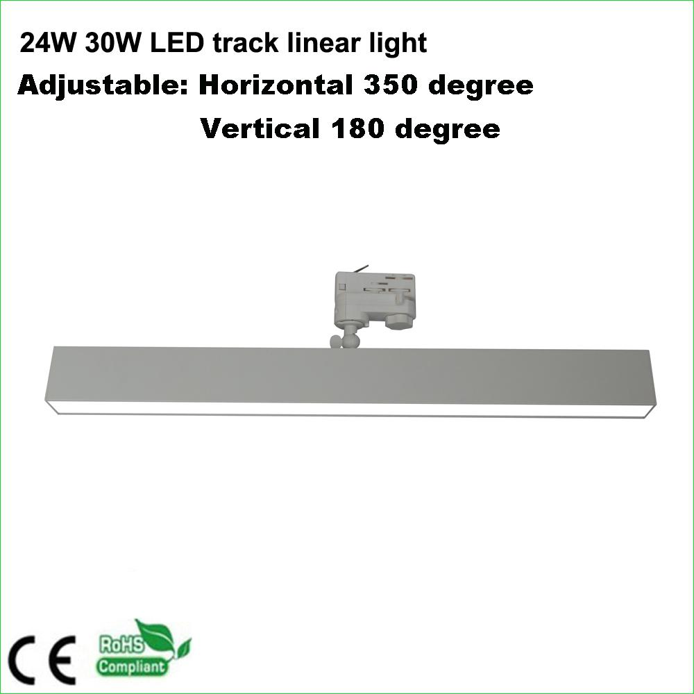2 wires 600mm length 40W LED track linear light 4