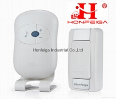 Honfeiga 305D T1R1 Battery Operated Wireless Door Bells with Stereo Speaker