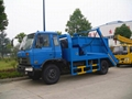 4x2 Donfeng Swinging Arm Garbage Truck 3