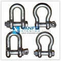 G209 US Type Screw Pin Drop Forged Anchor Shackle