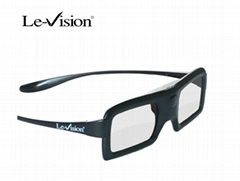 Active shutter 3D glasses for active cinema with battery