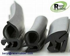 Flame retardant composite rubber sealing strip