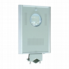 8W Integrated Solar LED street light - All in one LED solar garden light