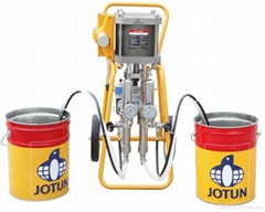 Two-component high-pressure airless sprayer