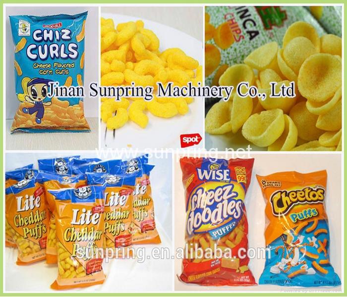 芝士球膨化小吃機械生產線 6