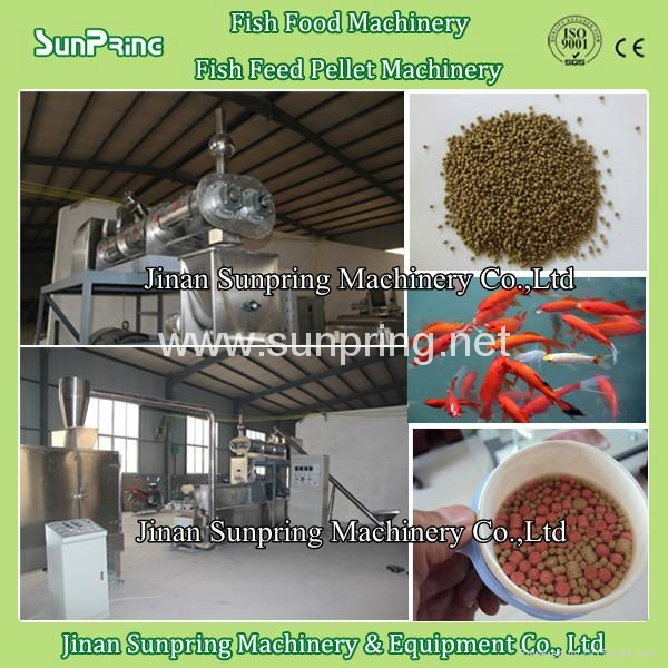 Floating fish feed mill